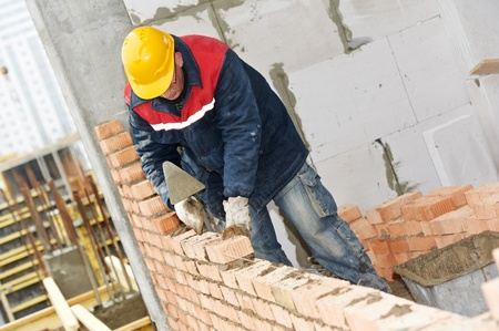 construction mason worker bricklayer Stock Photo - 13425820
