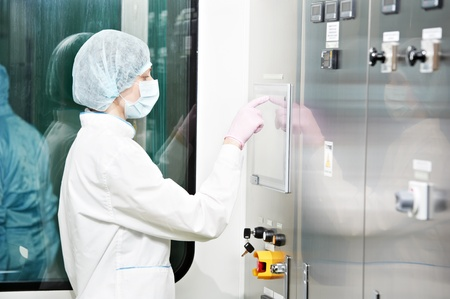 experienced operator: pharmaceutical factory worker
