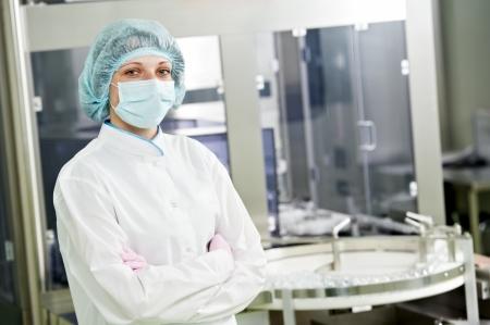 operante: operaio farmaceutico Archivio Fotografico
