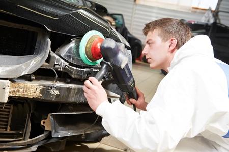 buff: auto mechanic painting car bumper