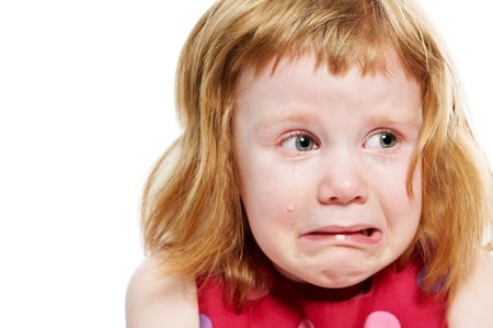 Little girl cryed with tears Stock Photo - 13701154