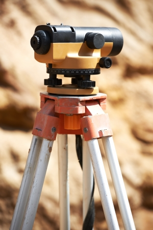 exact position: surveyor equipment outdoors