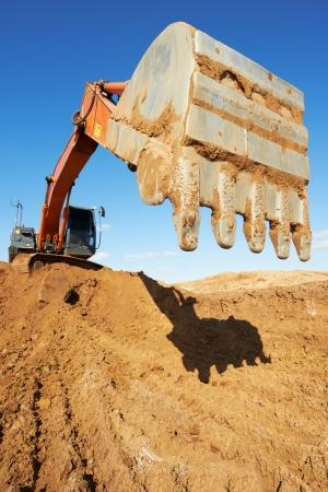 backhoe: track-type loader excavator at work