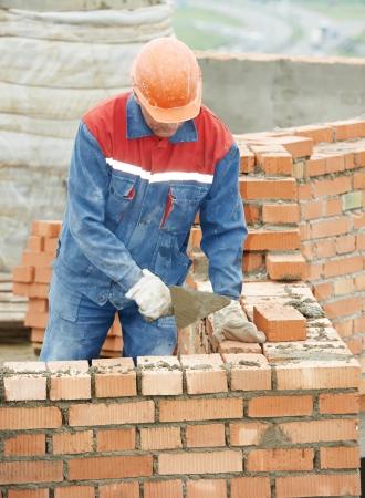 bouw mason werknemer metselaar Stockfoto