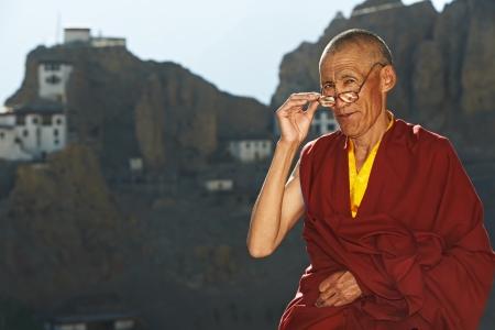 guru: Indian tibetan monk sadhu