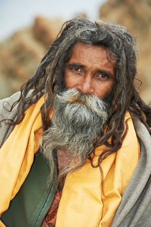Moine indien sadhu photo