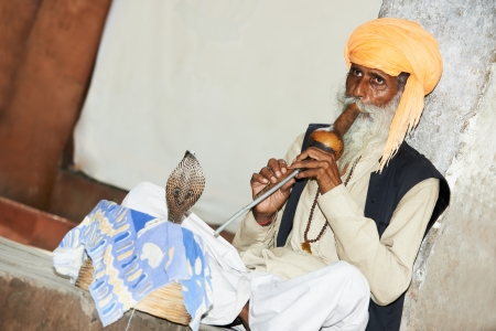 India Snake charmer Stock Photo - 14545633