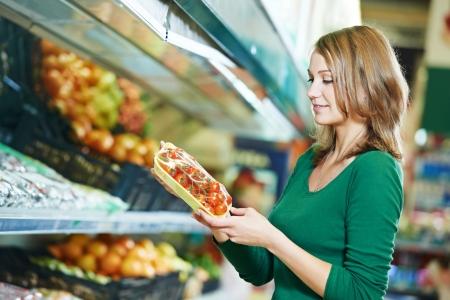 woman shopping fruits photo