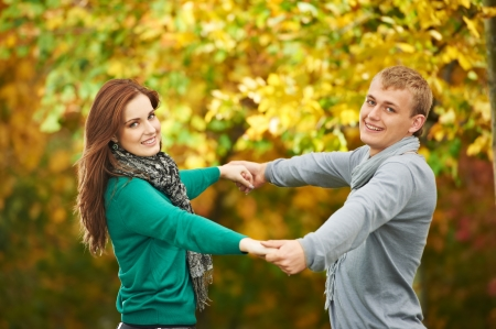 Couple at autumn outdoors Stock Photo - 15547927