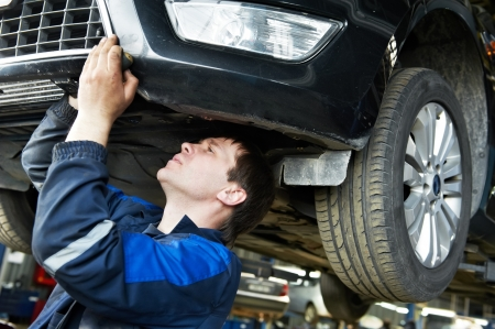 scheduled replacement: auto car repair mechanic at work