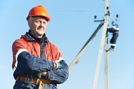 power distribution: power electrician lineman portrait