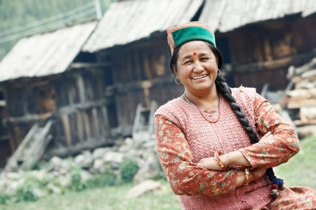 dweller: Authentic indian country villager woman