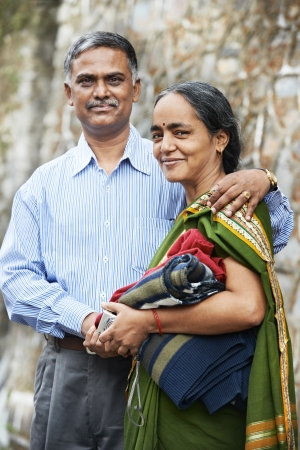 Happy indian adult people couple photo