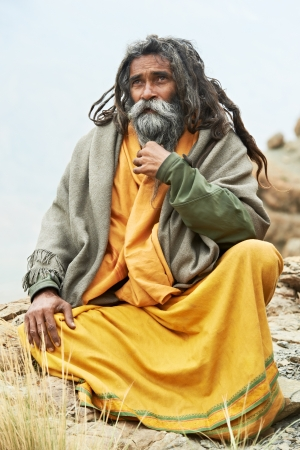 Indian monk sadhu photo