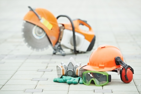 cut off: Safety protective equipment and disc cutter