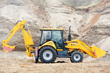 Excavator Loader with backhoe works Stock Photo - 17382527