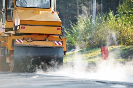 compactor: compactor roller at asphalting work