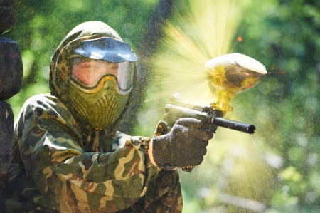 paintball: paintball player direct hit