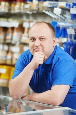 home improvement store: Seller at home improvement store Stock Photo