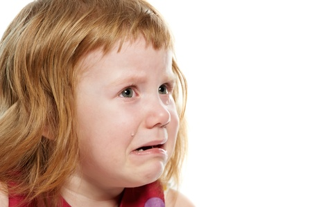 scared child: Little girl cryed with tears