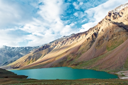 tal: Himalayas mountains in india spiti valley Stock Photo