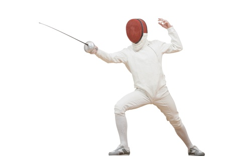 Fencer with rapier foil Stock Photo - 17411870