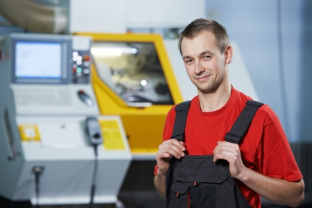 Portrait of experienced industrial worker Stock Photo - 17641321