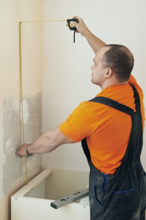 Kitchen installation service man Stock Photo - 17641303