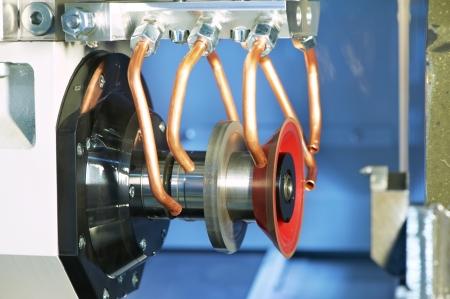 machining center: machining center equipment with tools Stock Photo