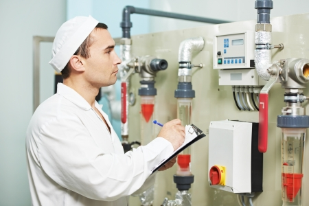 pharmaceutical factory worker Stock Photo - 17825320