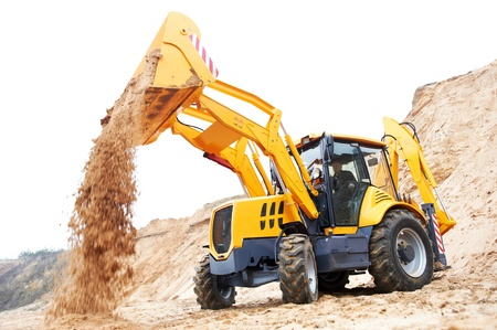 Excavator Loader with backhoe works photo