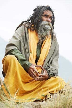 Indian monk sadhu photo