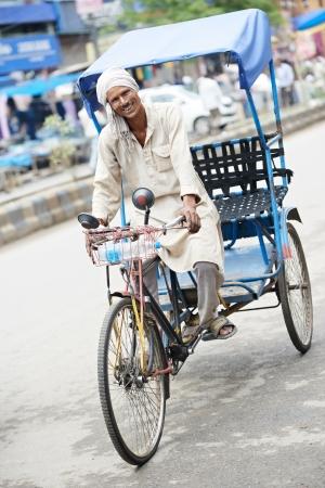 delhi: Indian auto rickshaw tut-tuk driver man