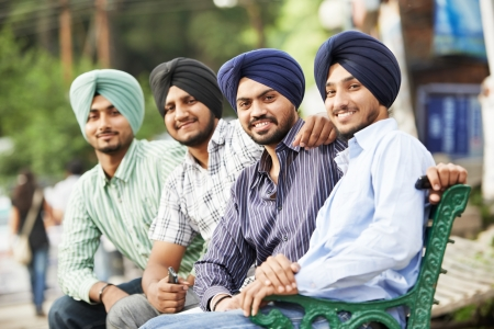 Young adult indian sikh men photo