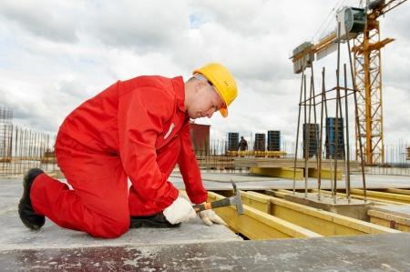 master: builder making construction works