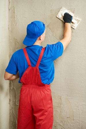 plasterer: Plasterer at work