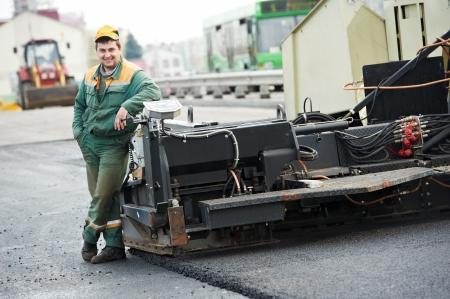 roadwork: asphalt road worker