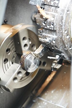 milling center: vuoto il processo di lavorazione del metallo Archivio Fotografico