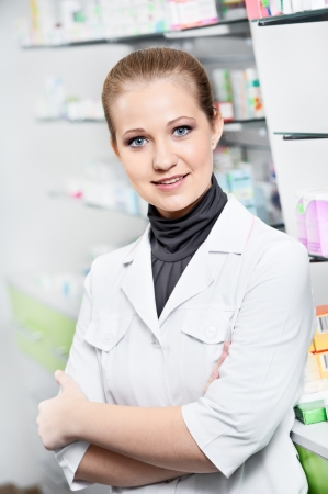 Pharmacy chemist woman in drugstore Stock Photo - 18208794
