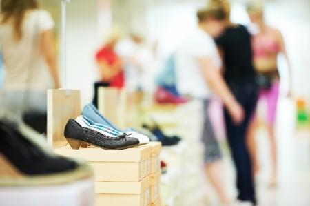 boutique shop: shoe in footwear store