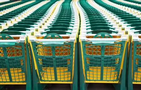 shopping carts in supermarket Stock Photo - 18359323