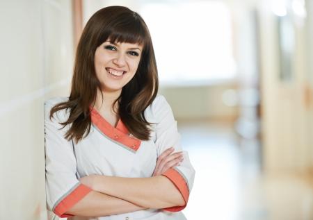 Young happy medic nurse in hospital Stock Photo - 18347514