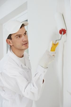 house painter: house painter at work