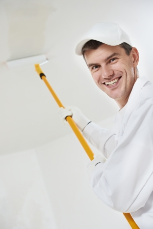 happy house painter worker photo