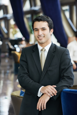 Smiling young businessman photo