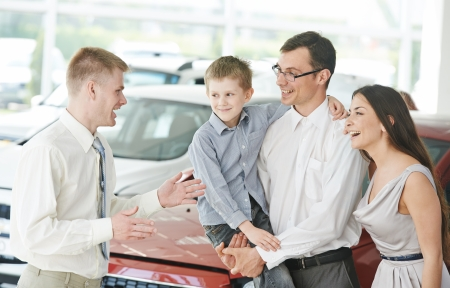 car dealer: Car selling or auto buying Stock Photo