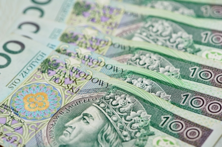 subornation: Polish currency money zloty