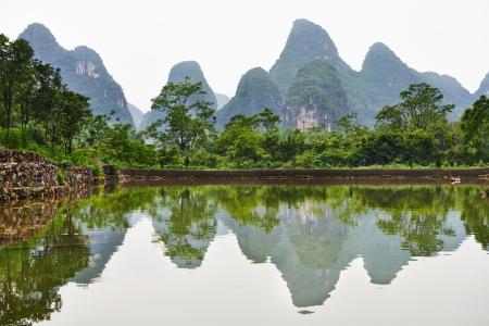 guilin: Guilin karst mountains landscape Stock Photo