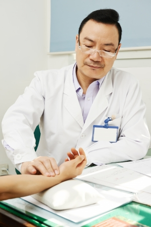 Chinese asian male doctor photo