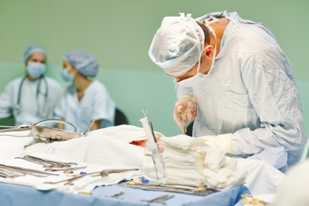 surgeon perform operation on a patient at heart surgery clinic Stock Photo - 22224304